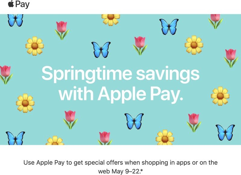 Apple Offers Springtime Apple Pay Promo With Discounts From