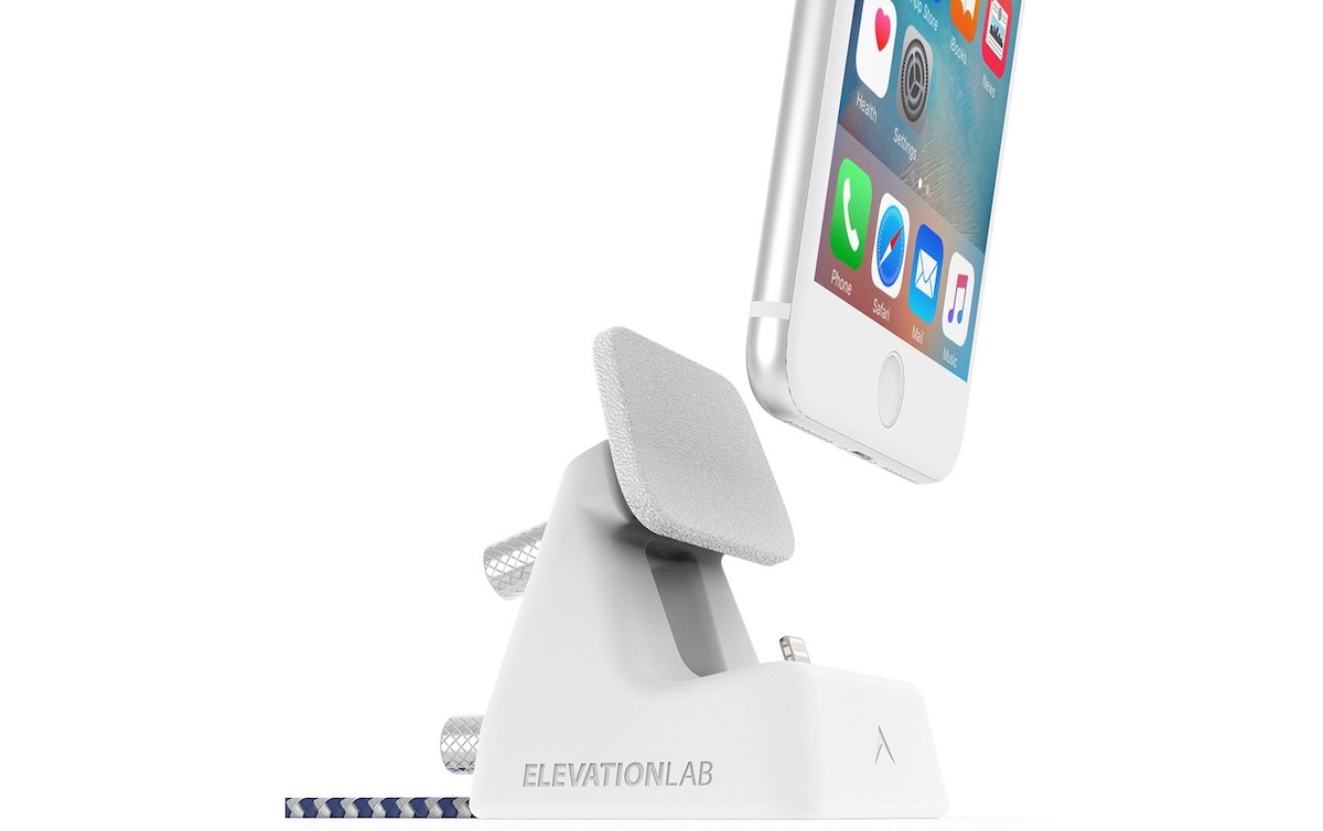 4a23a58f4ae Elevation Lab's accessory locks to smooth surfaces to keep itself in place  and ensure stability for any docked, Lightning-enabled iPhone.