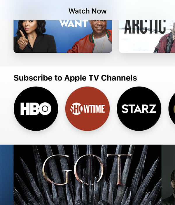HBO Added to 'Apple TV Channels' in Latest iOS 12 3 and tvOS 12 3