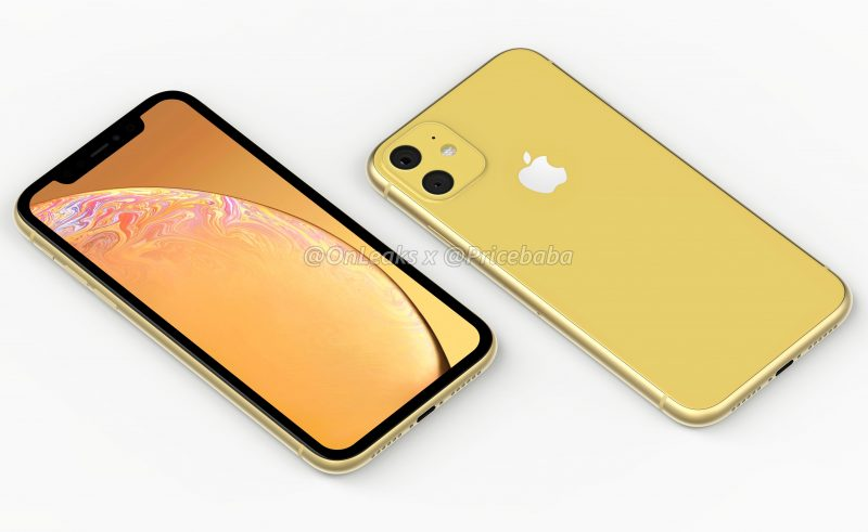 other than the dual cameras the device in the renders looks like the iphone xr with the same colorful body and thicker bezels around the display