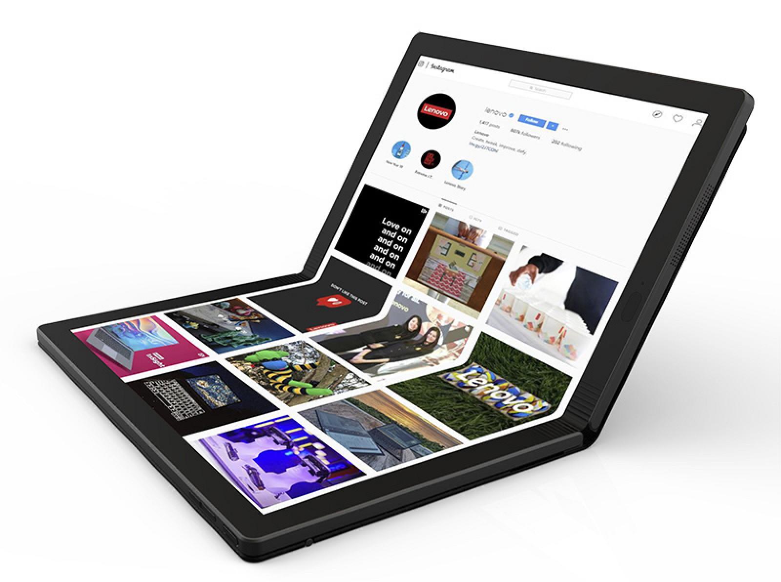 photo of Lenovo Debuts Foldable PC Prototype image