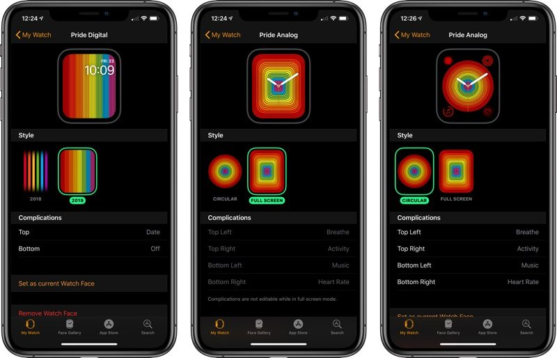 New Pride Watch Faces Available in watchOS 5 2 1 - MacRumors