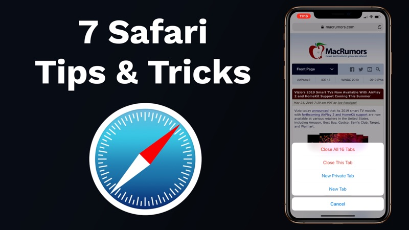 macrumors.com - Seven Safari Tricks on iOS You Might Not Know