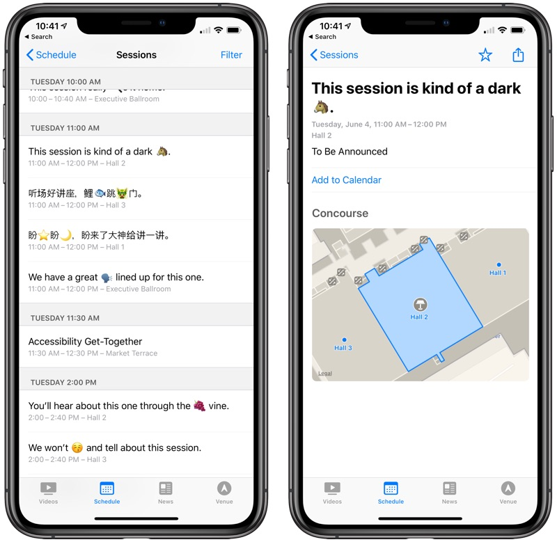 Apple Updates WWDC App With Customizable Icons, Hidden Session Info