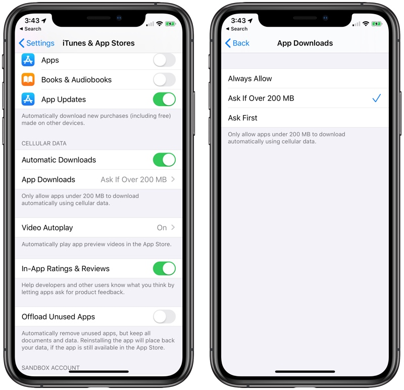 iOS 13 Will Let You Download Large Apps Over Cellular