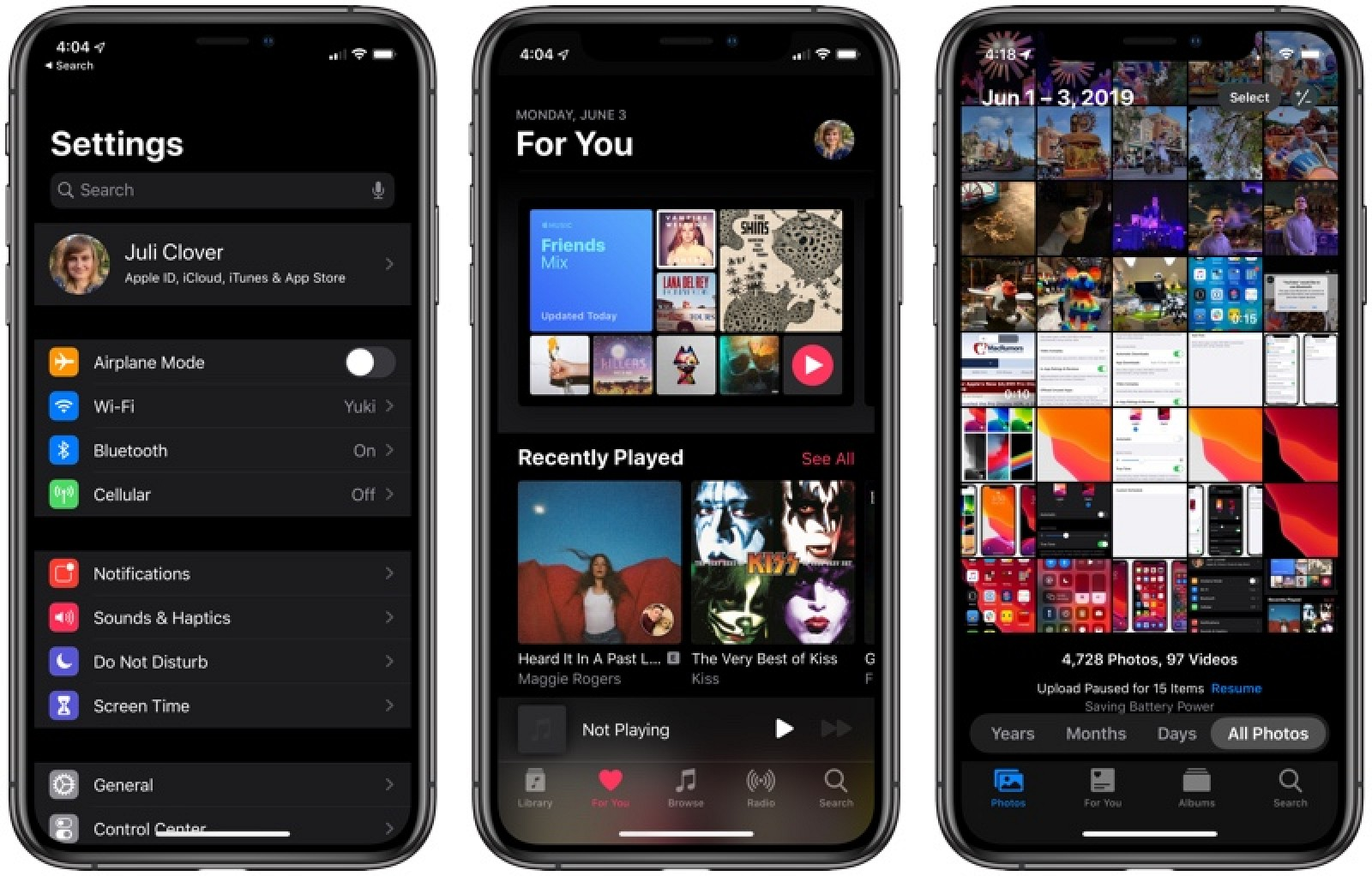 Check Out Dark Mode in iOS 13 - MacRumors