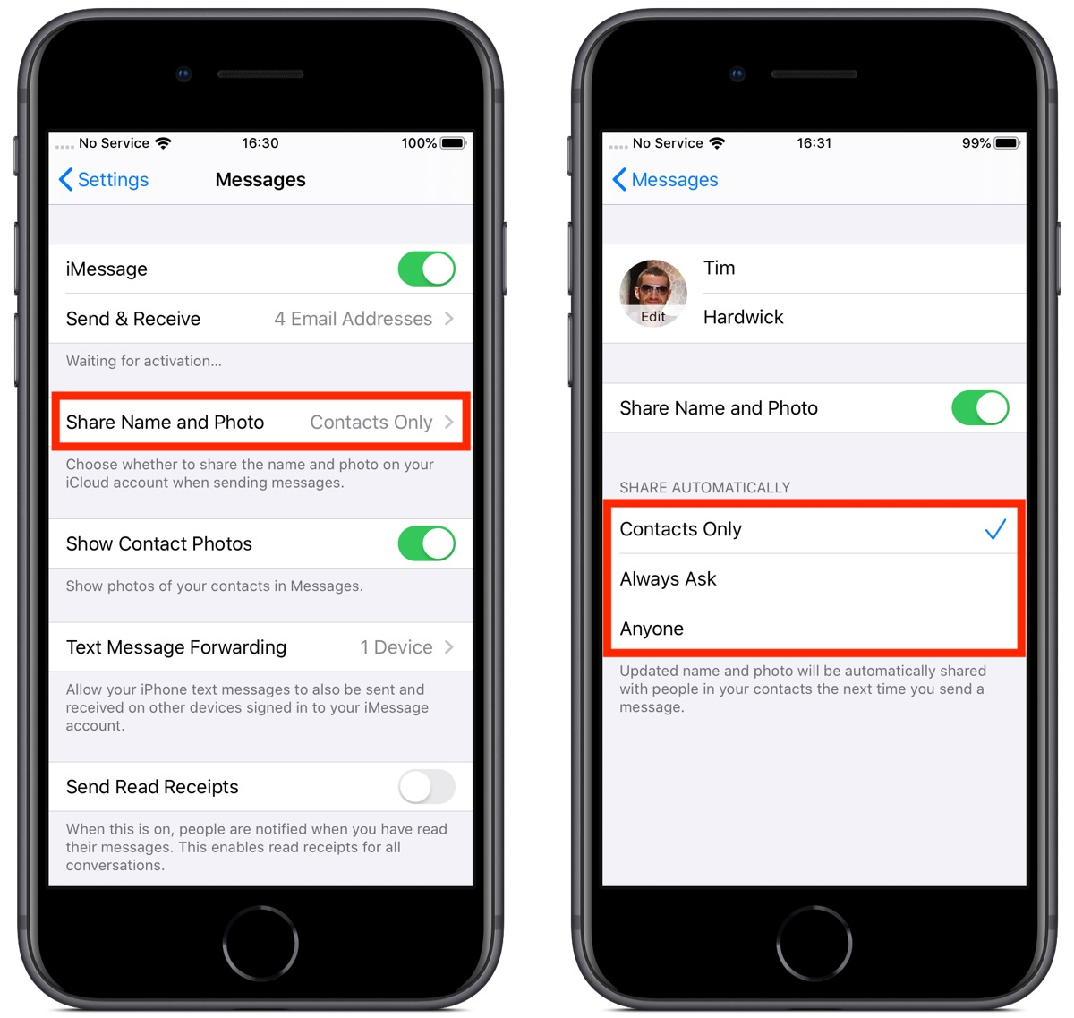 How to Change Who Sees Your Messages Profile in iOS 13 - MacRumors