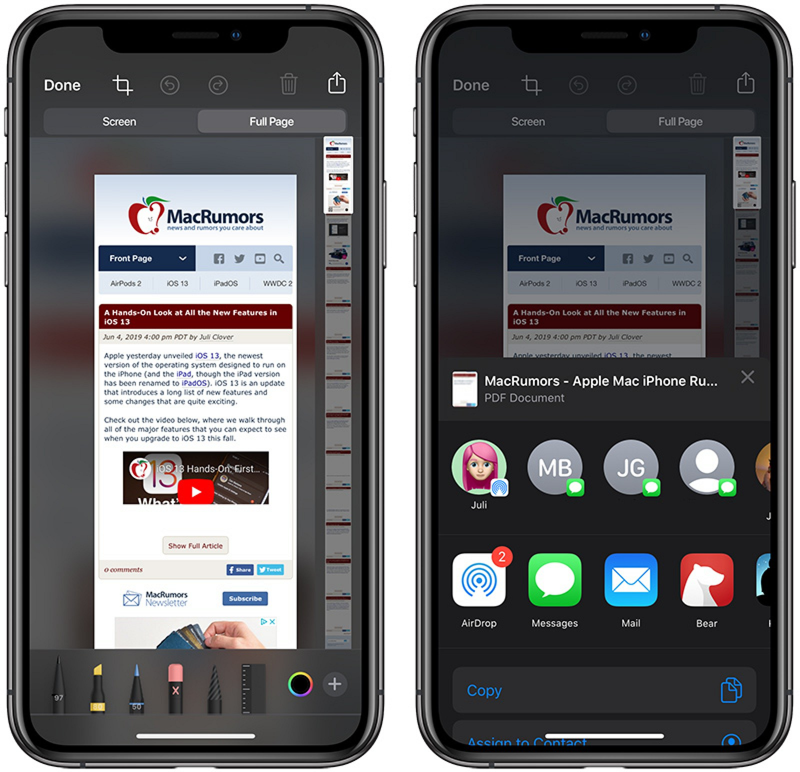 How to Save or Share a Safari Web Page as a PDF in iOS 13 - MacRumors