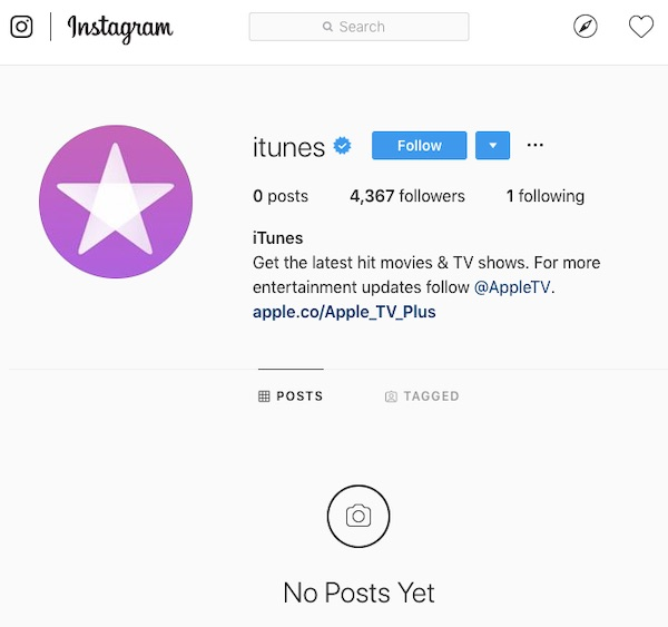 Apple Wipes iTunes Pages on Facebook and Instagram, Begins