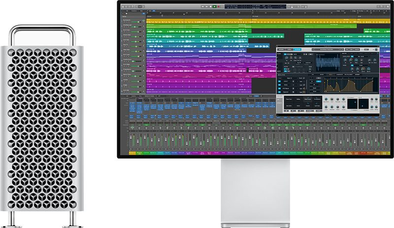 pro display xdr and Mac Pro running Logic Pro X