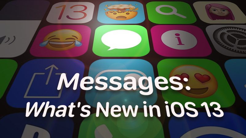 iMessages: What's New in iOS 13 - MacRumors