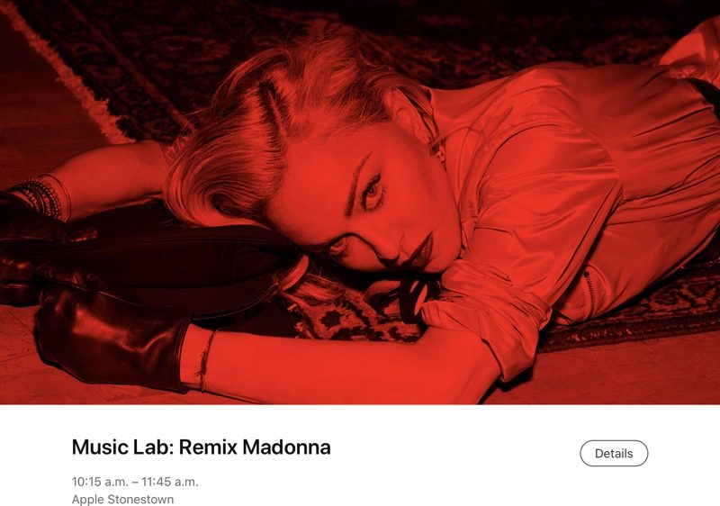 Apple Teams Up With Madonna for Today at Apple Music Lab
