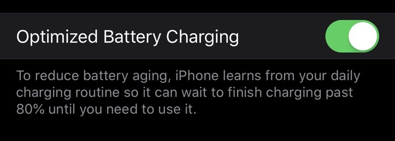 iOS 13 Introduces New 'Optimized Battery Charging' Feature