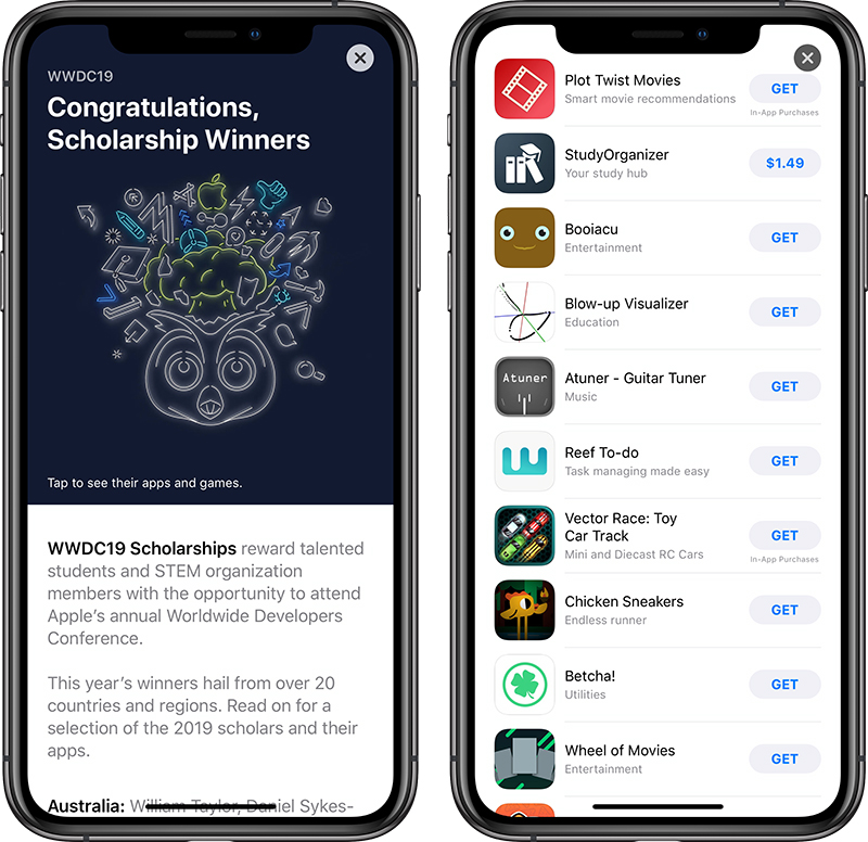 Apple Highlights WWDC 2019 Scholarship Winners and Their