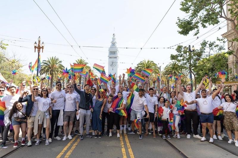 Apple Marches in San Francisco Pride Parade
