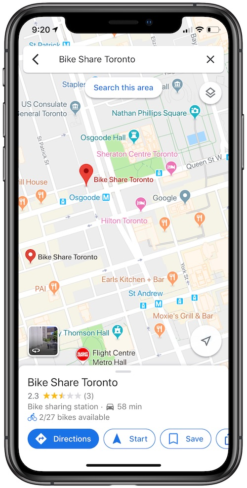Google Maps Expands Real-Time Bikesharing Info to 23 More ... on craigslist toronto, google map of bc, mapquest toronto, google ottawa, province of toronto, map of downtown toronto, etobicoke toronto, tourist map of toronto, world maps toronto, google sightseeing street view, google street view car, weather toronto,