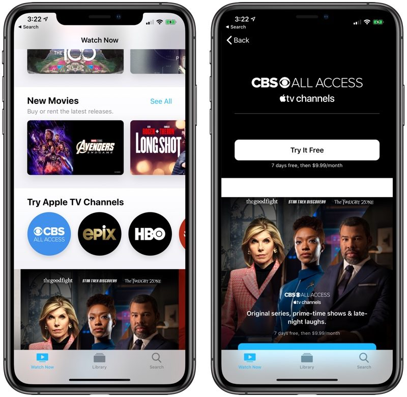 Apple TV Channels Now Offers CBS All Access Subscription