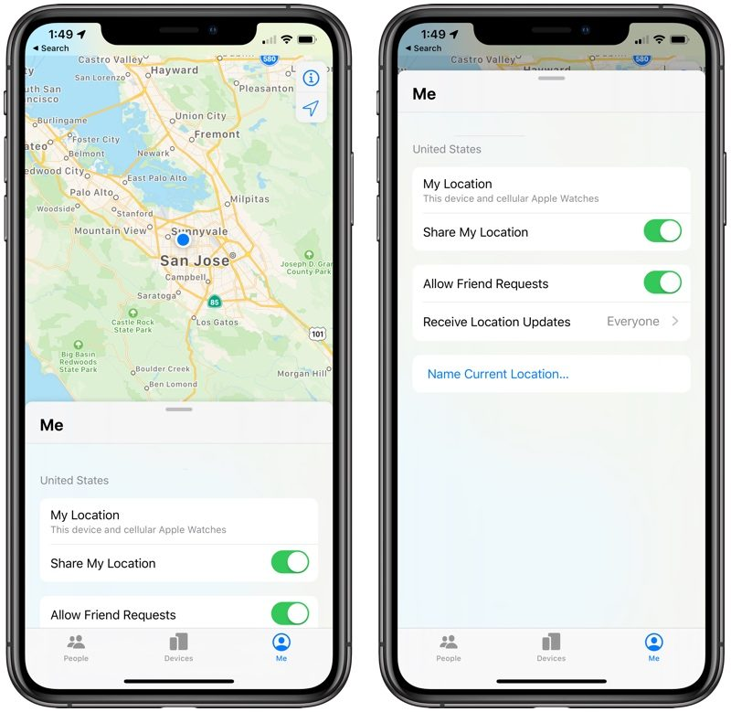 Find My App: Everything to Know - MacRumors Map My Phone Iphone on map tattoos, map pens, map diy projects,