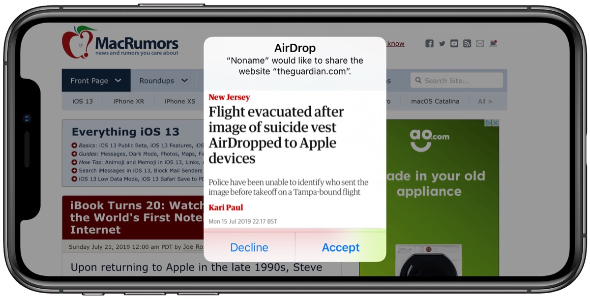 How to Prevent Unsolicited AirDrops to Your Apple Device