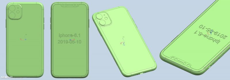 the cad rendering of the next generation iphone xr features a dual lens camera that s arranged in a square shaped camera bump that matches the square shaped