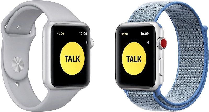 apple s walkie talkie apple watch app works again following ios 12 4 and watchos 5 3 release