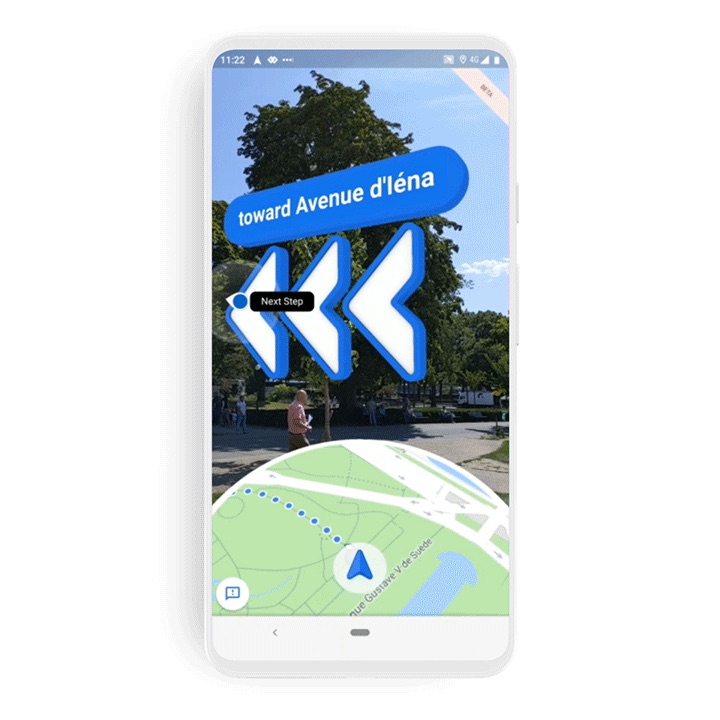 Google Maps Gains 'Live View' Augmented Reality Walking ... on google sky, google goggles, google docs, online maps, goolge maps, aerial maps, route planning software, google voice, aeronautical maps, google chrome, google moon, search maps, google map maker, road map usa states maps, web mapping, stanford university maps, googie maps, topographic maps, bing maps, amazon fire phone maps, android maps, microsoft maps, google translate, satellite map images with missing or unclear data, google search, ipad maps, gppgle maps, iphone maps, yahoo! maps, gogole maps, waze maps, google mars, msn maps, googlr maps,