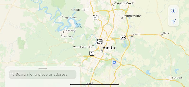Map Of Texas Louisiana.Revamped Apple Maps Now Available In Texas Louisiana And Southern