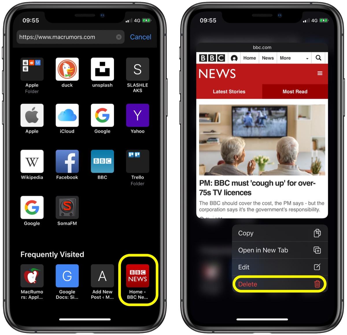苹果实用技巧:如在删除 Safari 浏览器起始页中经常访问的网站