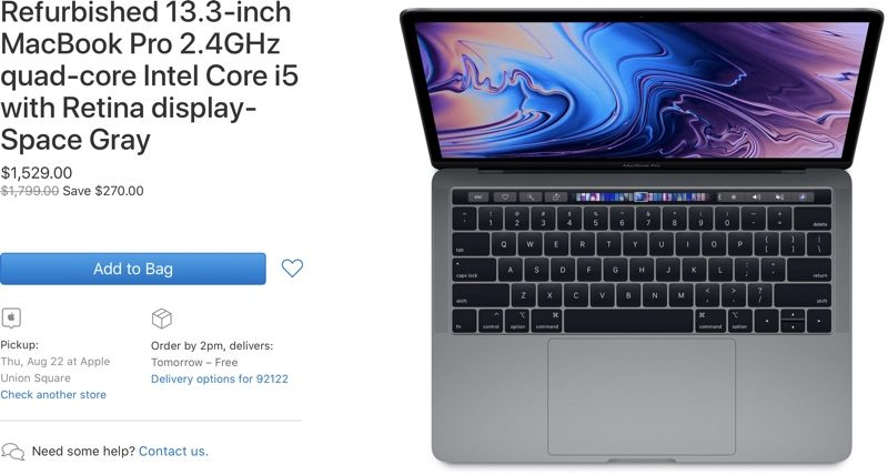 Apple's Refurbished Store Now Offering 2019 13 and 15-Inch MacBook Pro Models