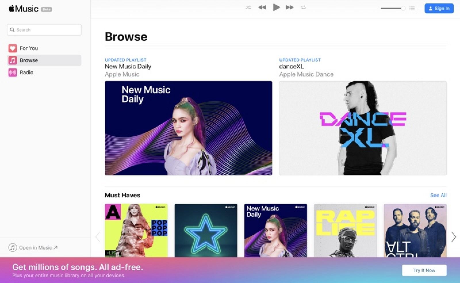 Apple Launches Apple Music on the Web Beta - MacRumors