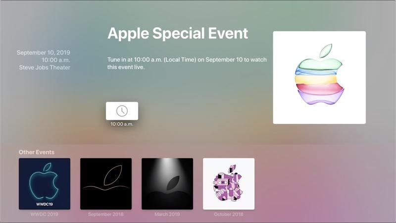 Apple Updates Apple TV Special Event App Ahead of September