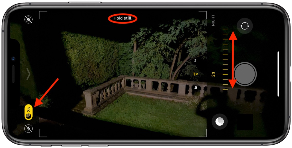 Image result for New night mode camera settings iphone 11