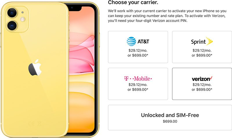 iPhone 11 and 11 Pro Available Unlocked at Launch Day