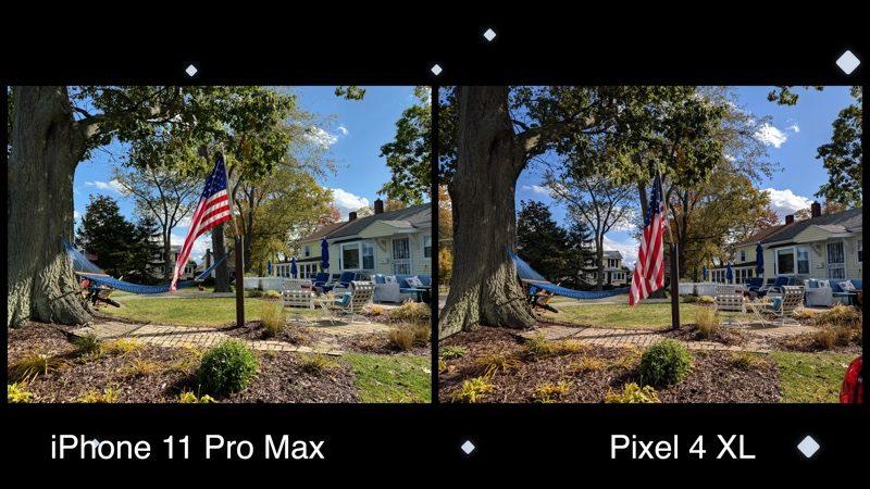 Hình ảnh từ iPhone 11 Pro Max và Google Pixel 4 XL