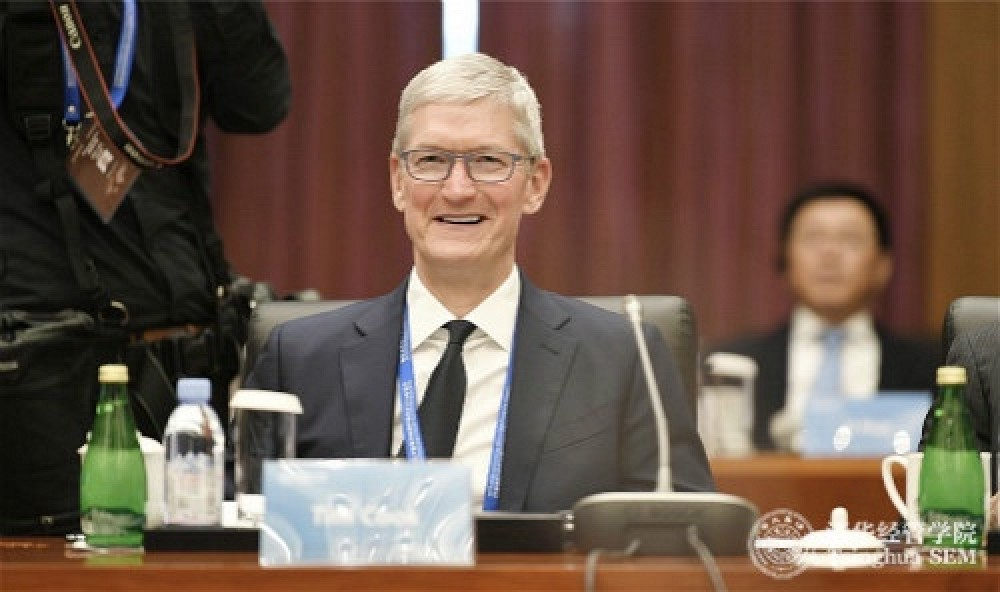 photo of Apple CEO Tim Cook Named Board Chairman of Tsinghua University's School of Economics and Management image