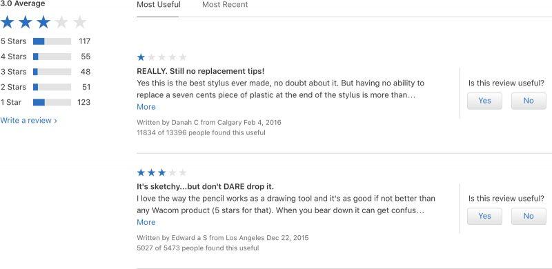 Apple elimina las calificaciones en la Apple Store 1