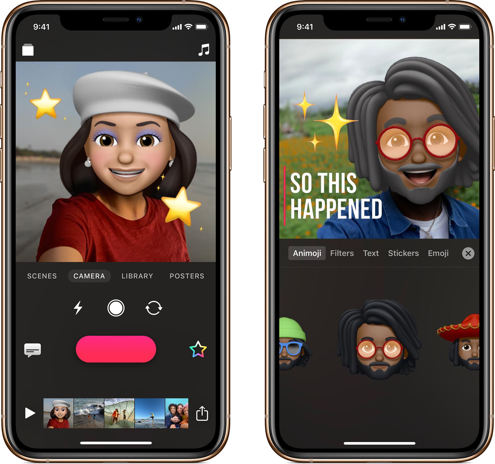 Приложение на айфон добавить картинки вместо лиц