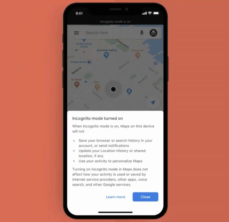 Google Maps for iOS finally gets Incognito Mode