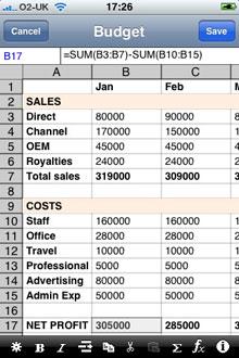 softalk spreadsheet