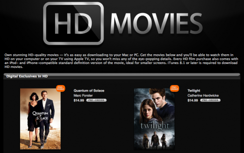 Apple announces release of hd movie sales and rentals via itunes apple announces release of hd movie sales and rentals via itunes voltagebd Image collections