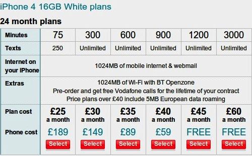 More UK iPhone 4 Details: Vodafone Pricing Leaked, Virgin ...