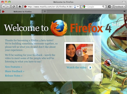Mozilla Releases First Beta of Firefox 4 - MacRumors