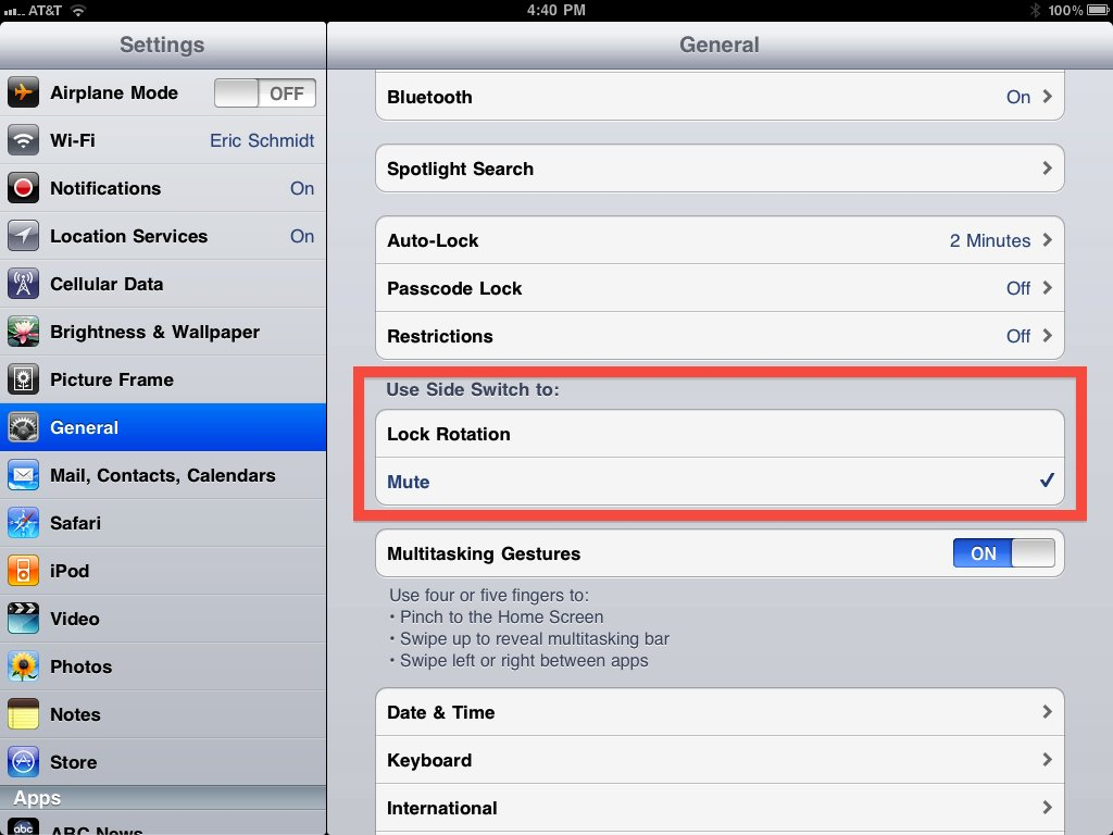iOS 4 3 Beta Brings Software Option for Rotation Lock or