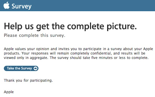 Apple Iphone Survey Email